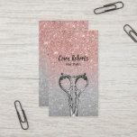 "Hair Stylist Trendy Rose Gold &amp; Silver Glitter Business Card<br><div class=""desc"">Hair Stylist Trendy Rose Gold &amp; Silver Glitter Business Cards.</div>"