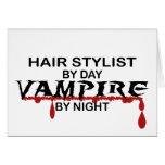 Hair Stylist Vampire by Night Greeting Card