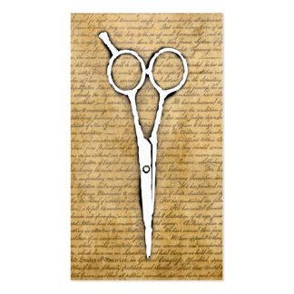 Hair Stylist Vintage Burned Paper Scissor Classy Business Card