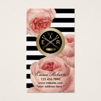 Hair Stylist Vintage Floral Gift Certificate