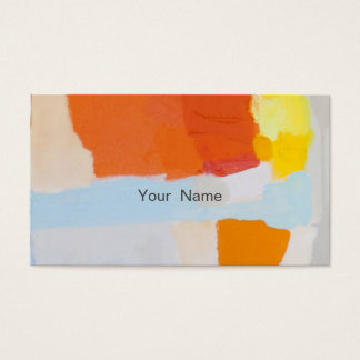 Hair Stylist Watercolor Business Card