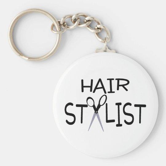 Hair Stylist with Scissors Keychain