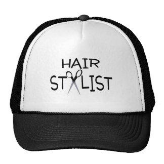 Hair Stylist with Scissors Trucker Hat