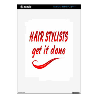 Hair Stylists Get It Done Decal For iPad 3