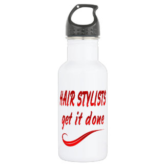 Hair Stylists Get It Done Stainless Steel Water Bottle