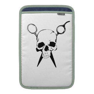Hair Sylist Barber Skull and Shears MacBook Sleeve