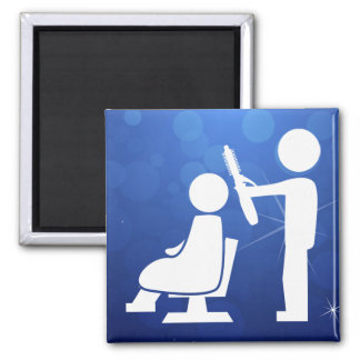 Hair Talents Graphic 2 Inch Square Magnet
