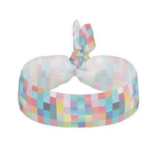 "Hair Tie: ""MULTI COLORED DESIGN"" Ribbon Hair Ties"