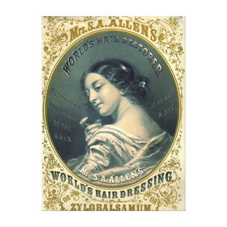 Hair Tonic Ad 1860 Gallery Wrapped Canvas