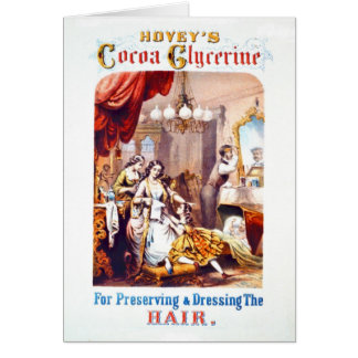 Hair Tonic Advertisement 1860 Card