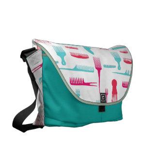 Hair We Go Fashion Messenger Bags