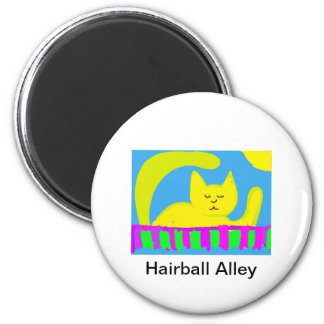 Hairball Alley 2 Inch Round Magnet