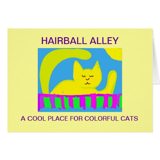 Hairball Alley Greeting Card
