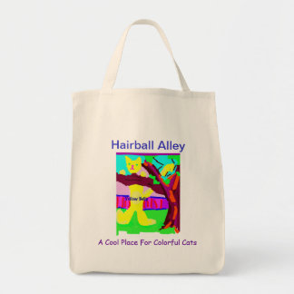 Hairball Alley Grocery Tote Grocery Tote Bag