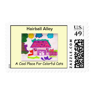 Hairball Alley - House Stamp