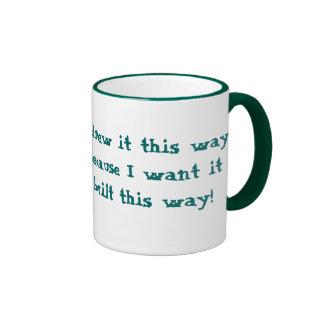 HairBall Architect Ringer Coffee Mug