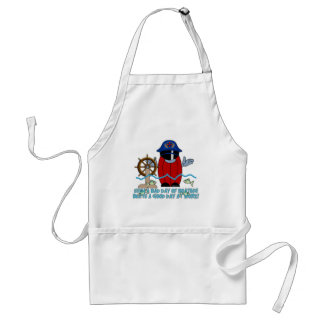 HairBall Skipper Sinking Adult Apron