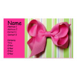 Hairbow business card horizontal