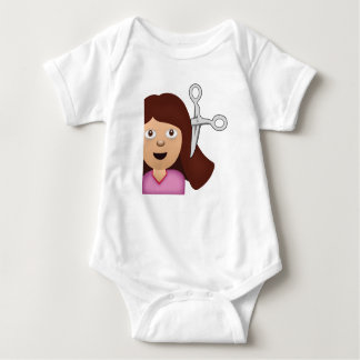 Haircut Emoji Baby Bodysuit