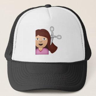 Haircut Emoji Trucker Hat