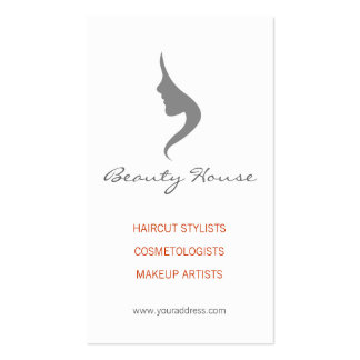Haircut Stylist-Cosmetologist Simple White Card Business Card Template