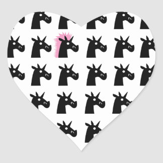 Hairdo Unicorn V2 Heart Sticker