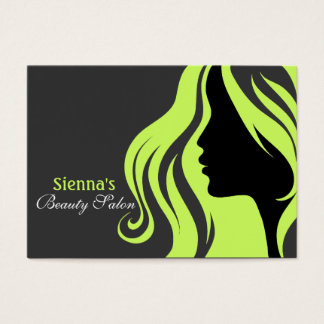 Hairdresser Appointment Card (Dark Olive Green)