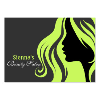Hairdresser Appointment Card (Dark Olive Green) Business Card Template