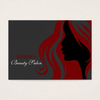 Hairdresser Appointment Card (Dark Red)