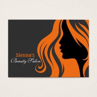 Hairdresser Appointment Card (orange)