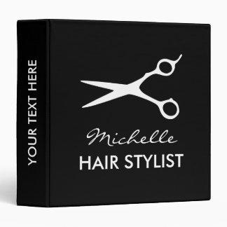 Hairdresser binder with hair stylist scissors