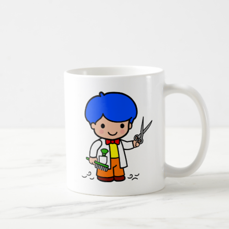 Hairdresser Boy Mugs