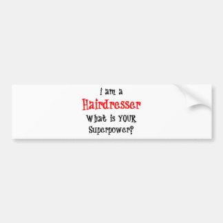 hairdresser bumper sticker