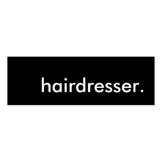hairdresser. Double-Sided mini business cards (Pack of 20)