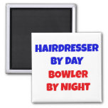 Hairdresser by Day Bowler by Night Refrigerator Magnets