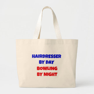 Hairdresser by Day Bowling by Night Jumbo Tote Bag