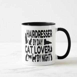 Hairdresser By Day Cat Lover Night Mug