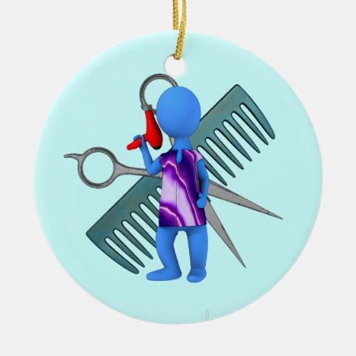 hairdresser ceramic ornament