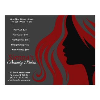 Hairdresser (Dark Red) Flyer