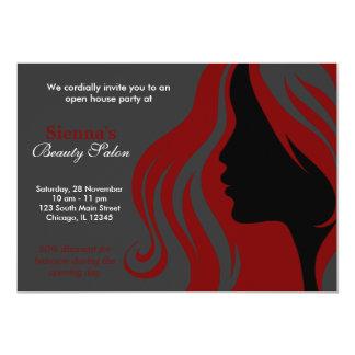 Hairdresser (Dark Red) Custom Invitation