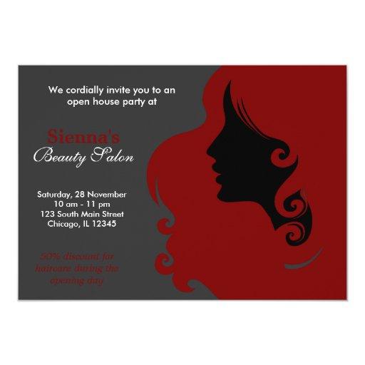 Hairdresser (Dark Red) Invite
