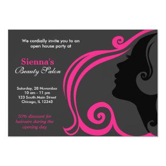 Hairdresser (deep pink) custom invites