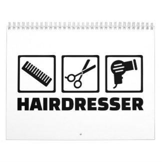 Hairdresser equipment wall calendar
