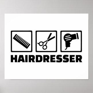 Hairdresser equipment poster