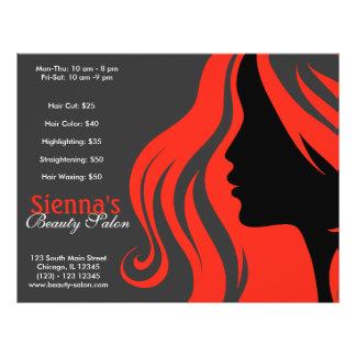 Hairdresser (firebrick) personalized flyer