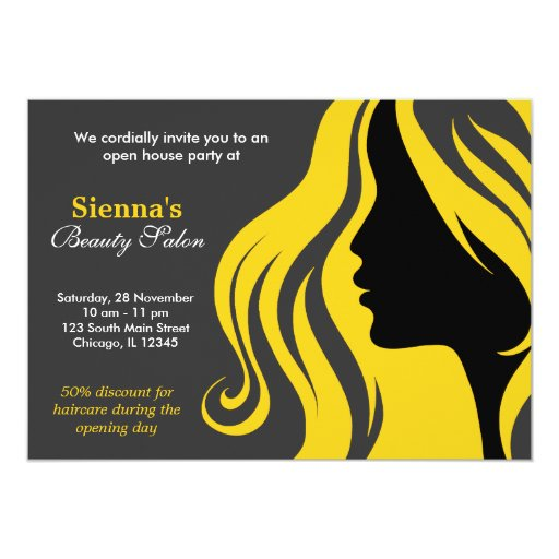 Hairdresser (gold) 5x7 paper invitation card