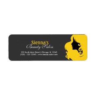 Hairdresser (Gold) Return Address Labels