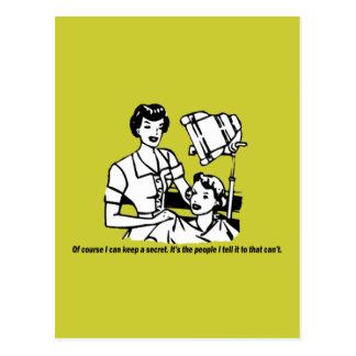 Hairdresser Humor - Of course I can keep a secret Postcard