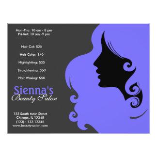 """Hairdresser (Light Slate Blue) 8.5"""" X 11"""" Flyer"""