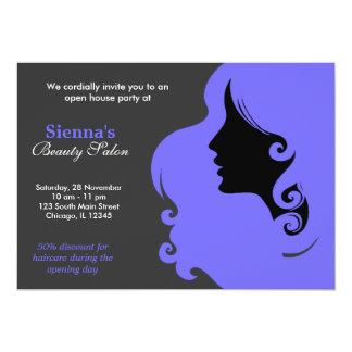 Hairdresser (Light Slate Blue) Custom Invitations